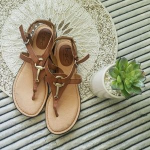 BOC Born Horse Bit Leather Sandals Size 7